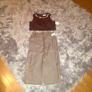 Alex Evenings Olive Green Party Skirt